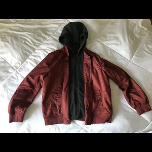 Forever 21 Double Zipper Hoodie and Jacket in One